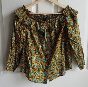NWT J Crew Elephant Off The Shoulder Top Size 0